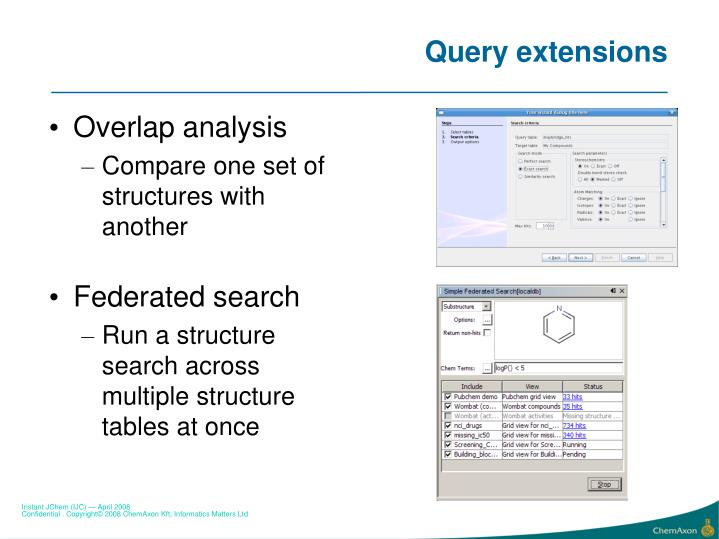 Query extensions