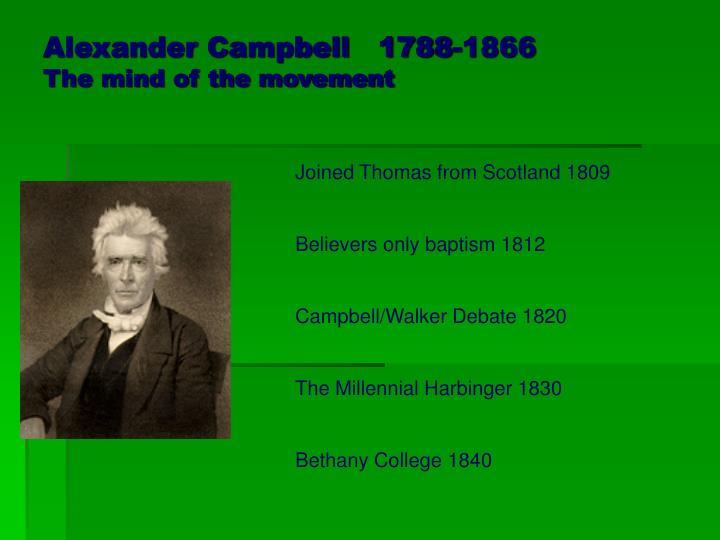 Alexander Campbell   1788-1866