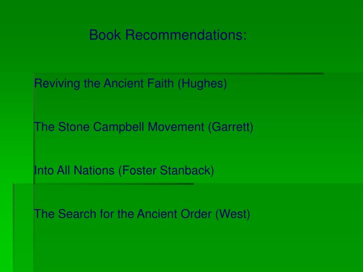 Book Recommendations: