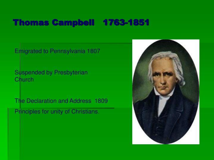 Thomas Campbell   1763-1851