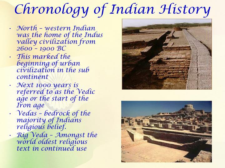 Chronology of indian history