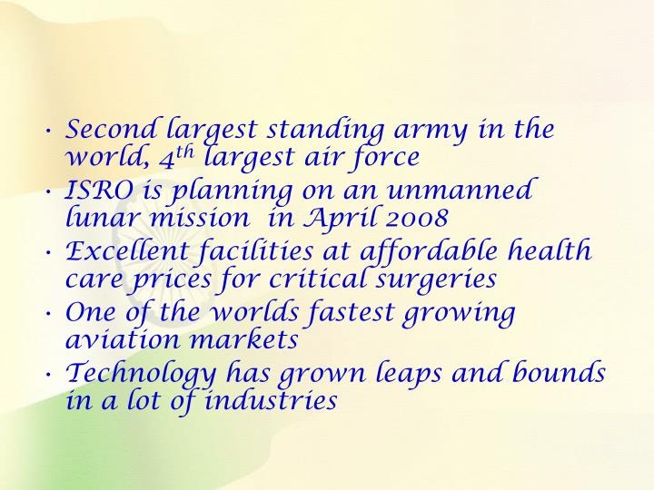 Second largest standing army in the world, 4