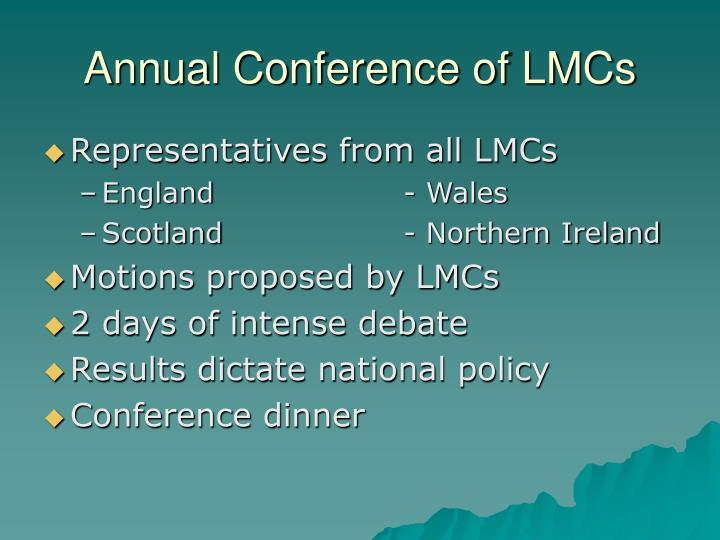 Annual Conference of LMCs
