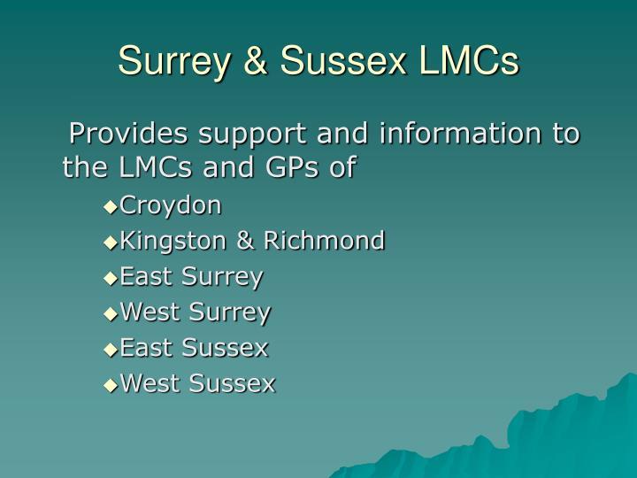 Surrey & Sussex LMCs