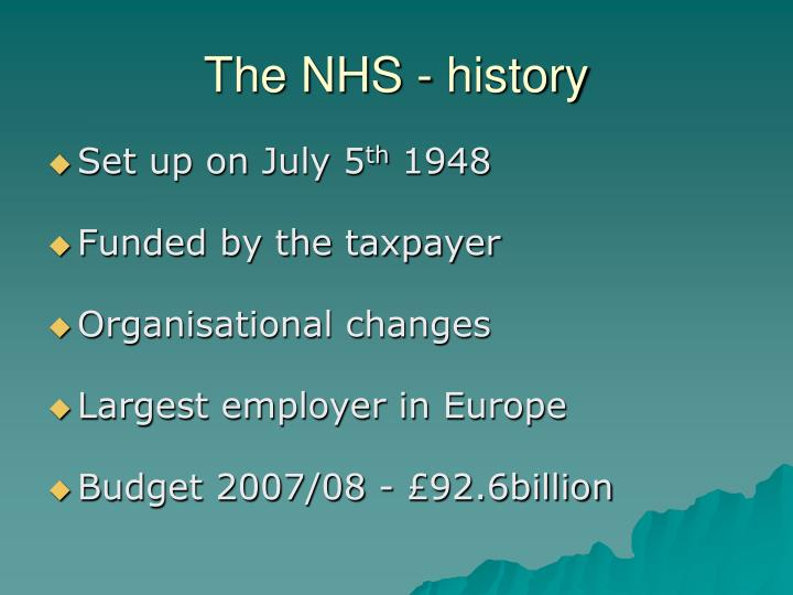 The NHS - history