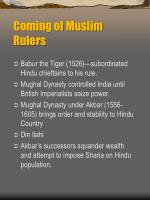 coming of muslim rulers
