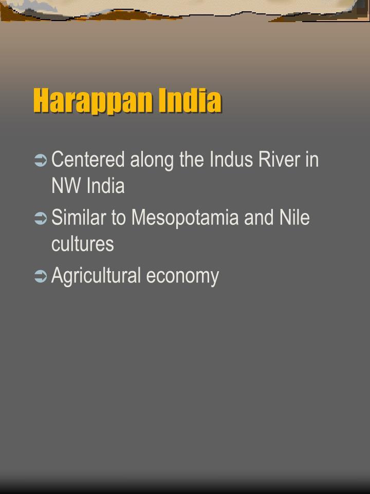 Harappan india