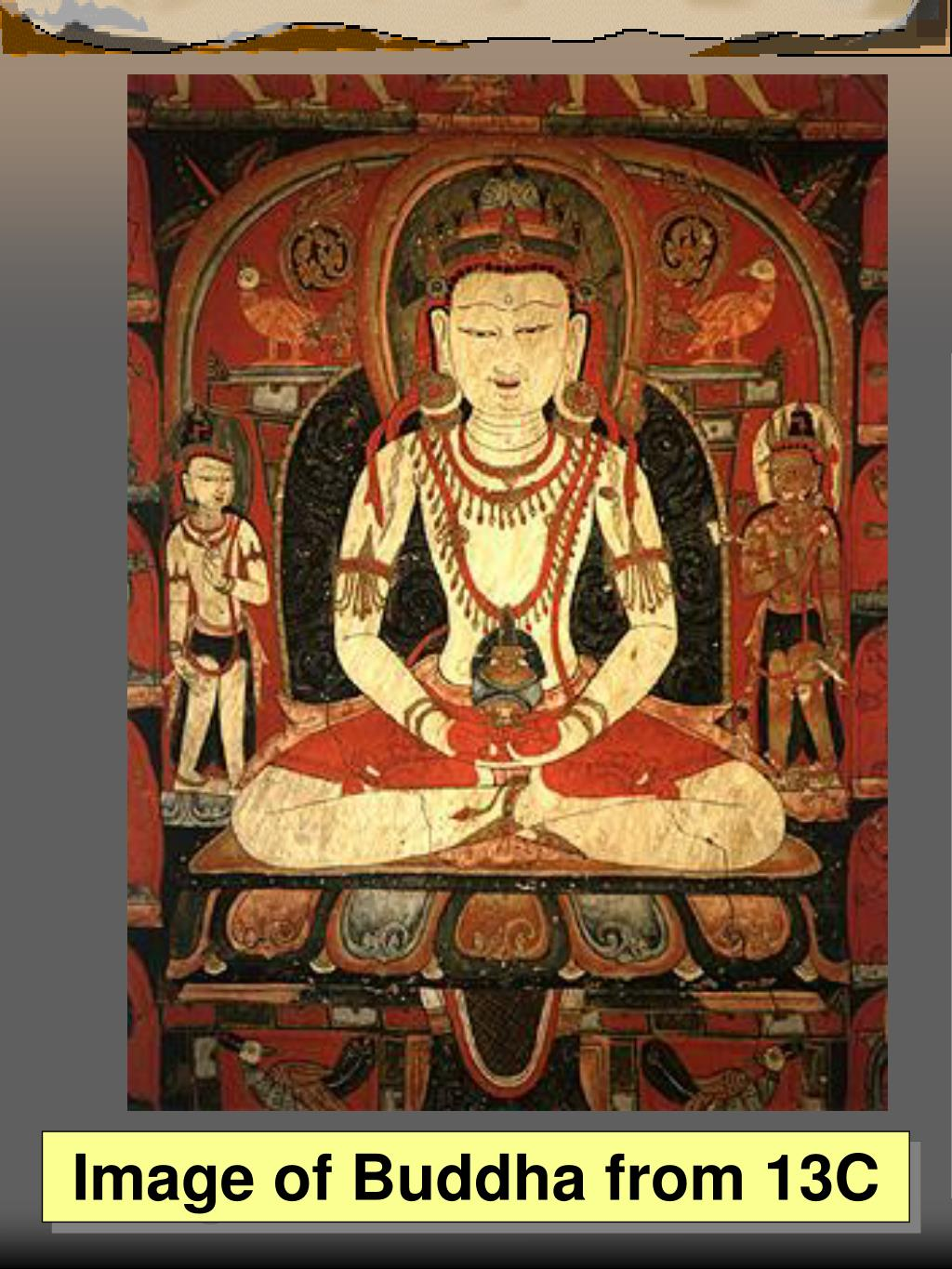 Image of Buddha from 13C