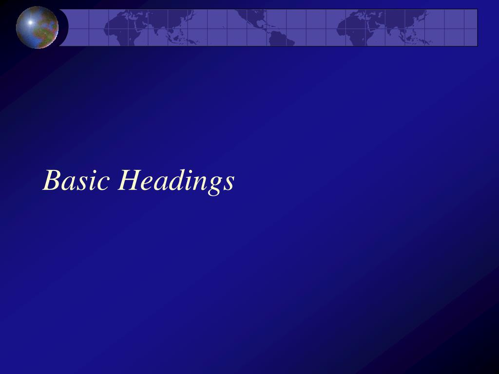 Basic Headings