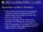 importance of basic headings