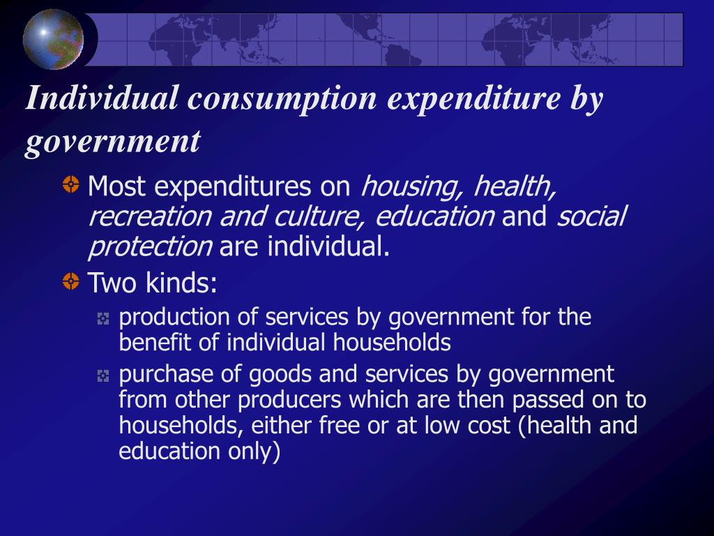 Individual consumption expenditure by government