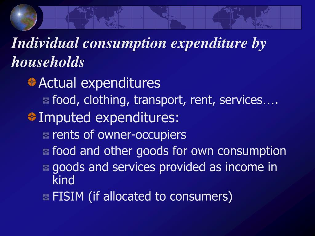 Individual consumption expenditure by households