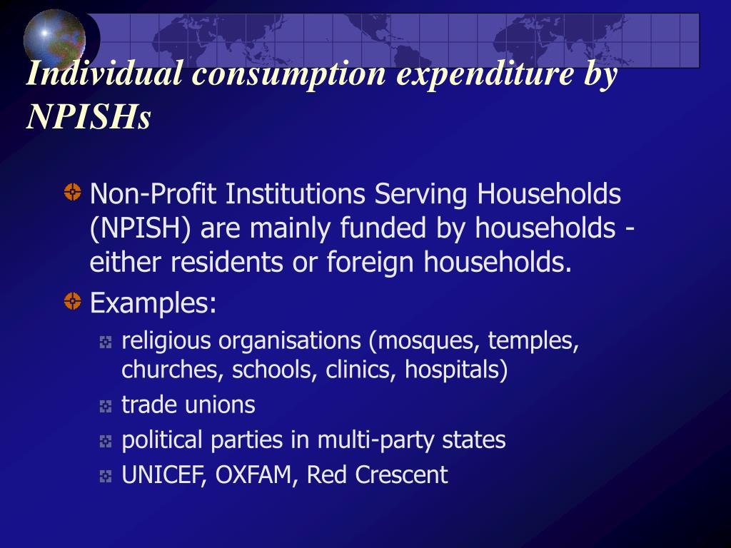Individual consumption expenditure by NPISHs