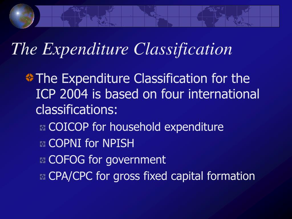 The Expenditure Classification