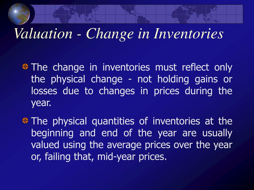 Valuation - Change in Inventories