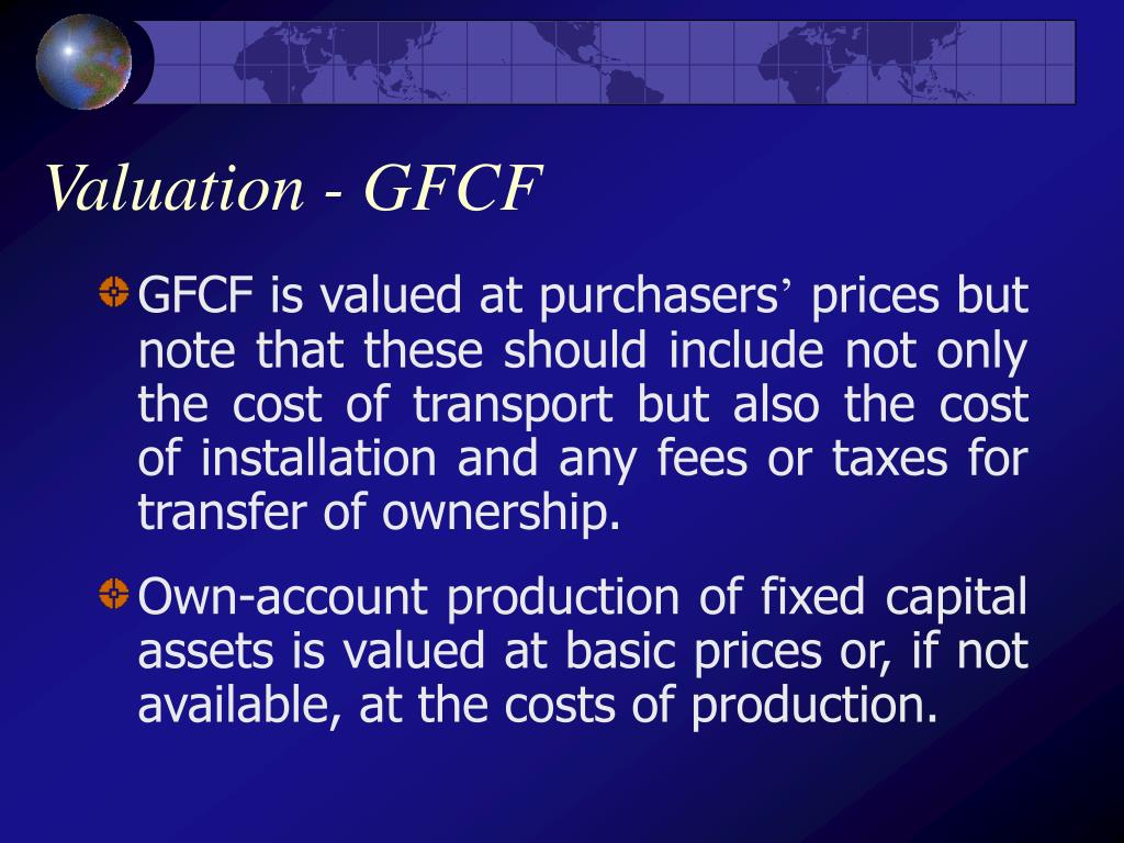 Valuation - GFCF