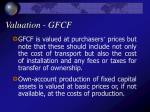 valuation gfcf