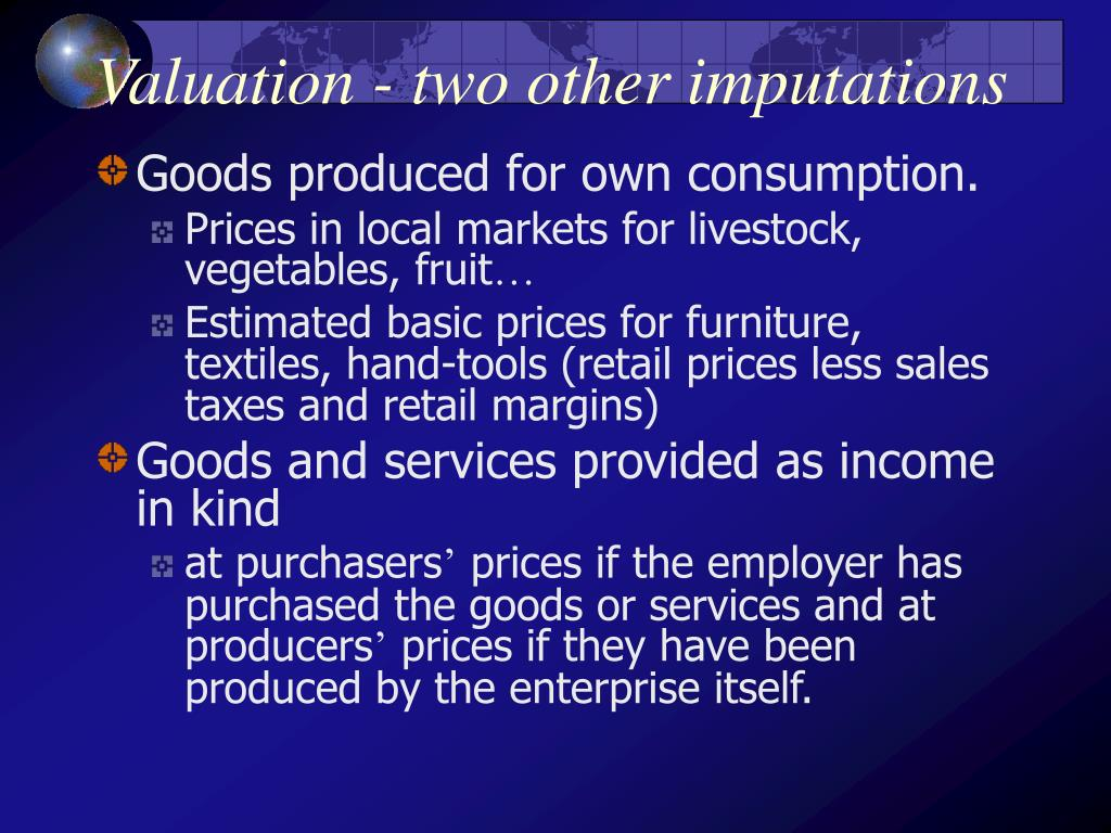 Valuation - two other imputations