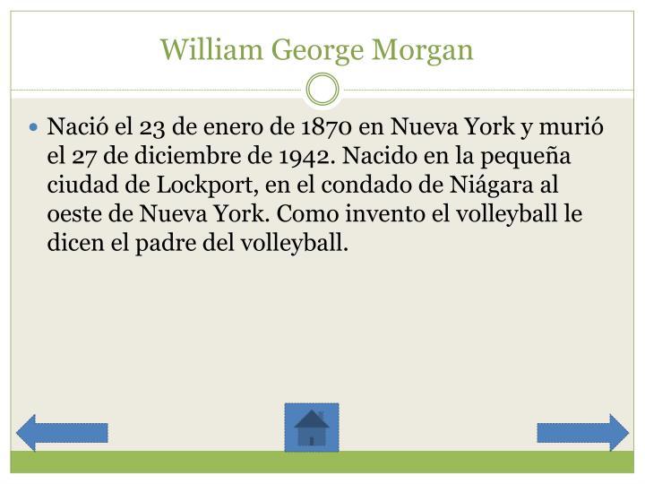 William George Morgan