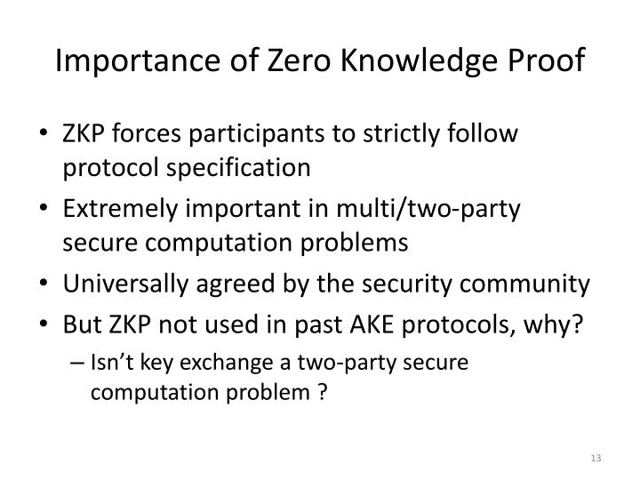 Importance of Zero Knowledge Proof