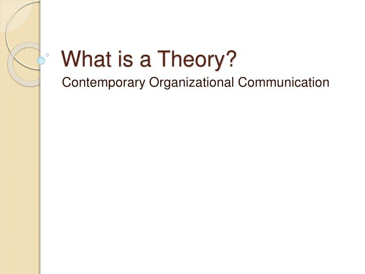 what is a theory n.