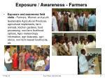 exposure awareness farmers