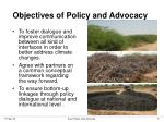 objectives of policy and advocacy
