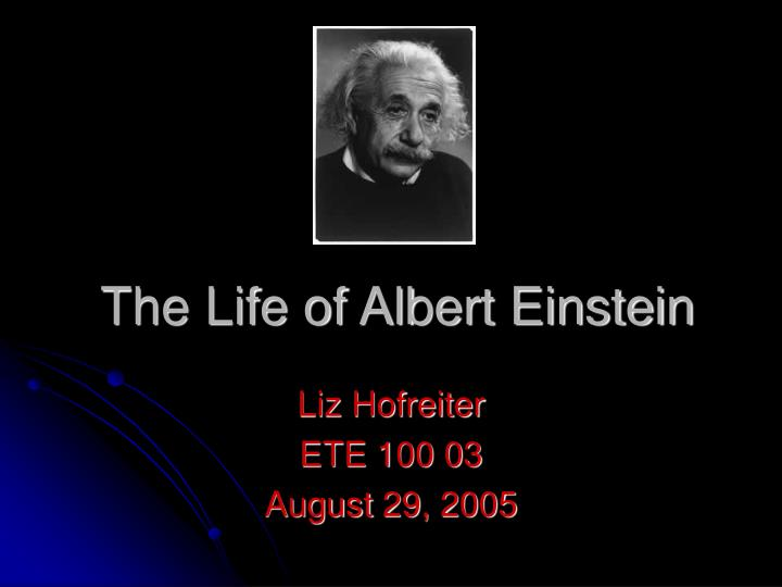 account of the life of albert einstein Watch video the standard account of relativity tends to say that before einstein, there was darkness and then einstein brought light, dan siegel, of the university of wisconsin-madison, told reporters last month at a meeting of the american physical society in savannah, georgia.
