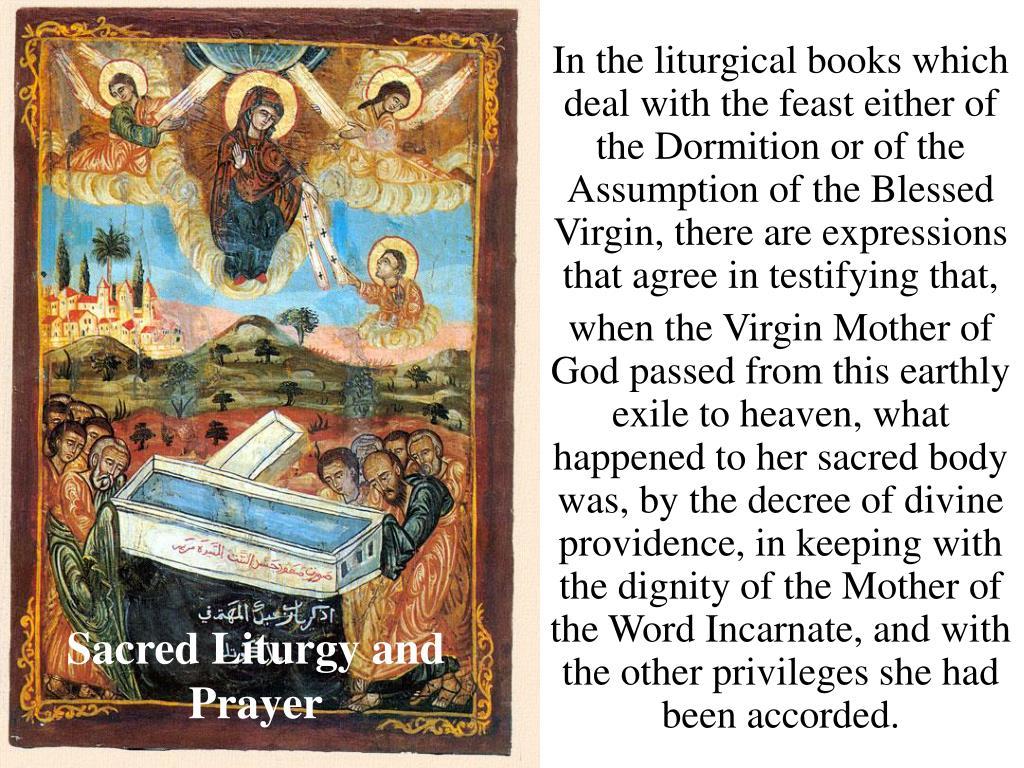 Sacred Liturgy and Prayer