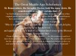 the great middle age scholastics36