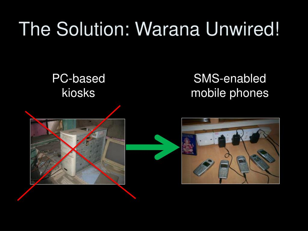 The Solution: Warana Unwired!