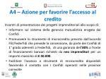 a4 azione per favorire l accesso al credito