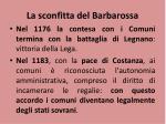 la sconfitta del barbarossa