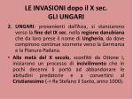 le invasioni dopo il x sec gli ungari