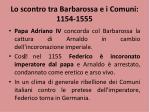 lo scontro tra barbarossa e i comuni 1154 15551