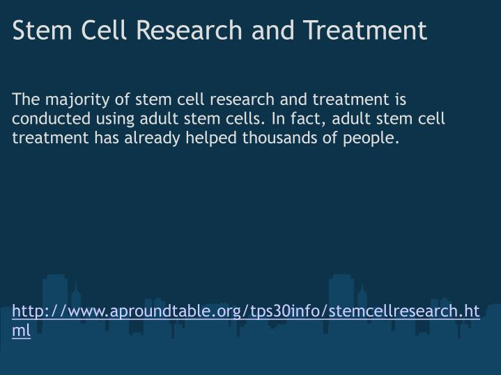 Stem Cell Research and Treatment