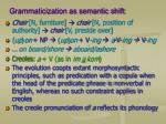 grammaticization as semantic shift