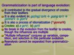 grammaticization is part of language evolution