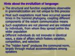 hints about the evolution of language