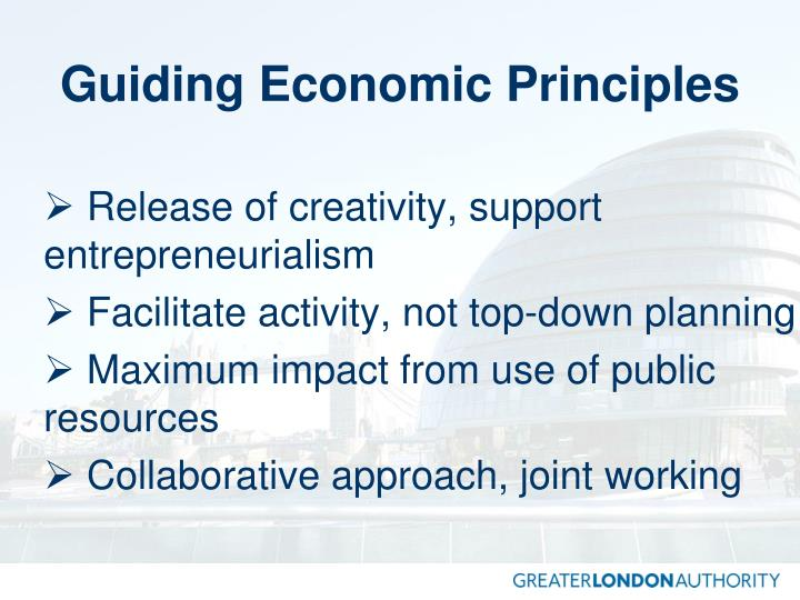 Guiding economic principles