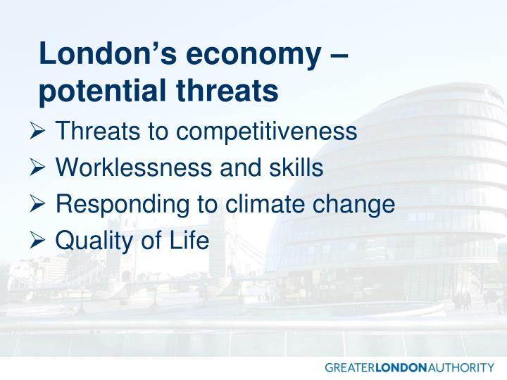London's economy – potential threats