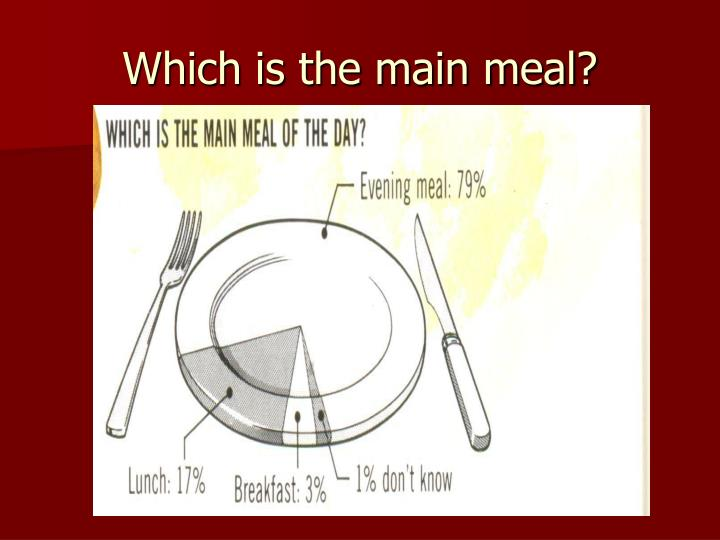 Which is the main meal?