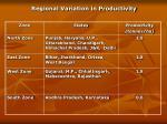 regional variation in productivity