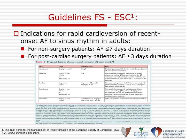 Guidelines FS - ESC