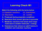 learning check m1