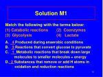 solution m1