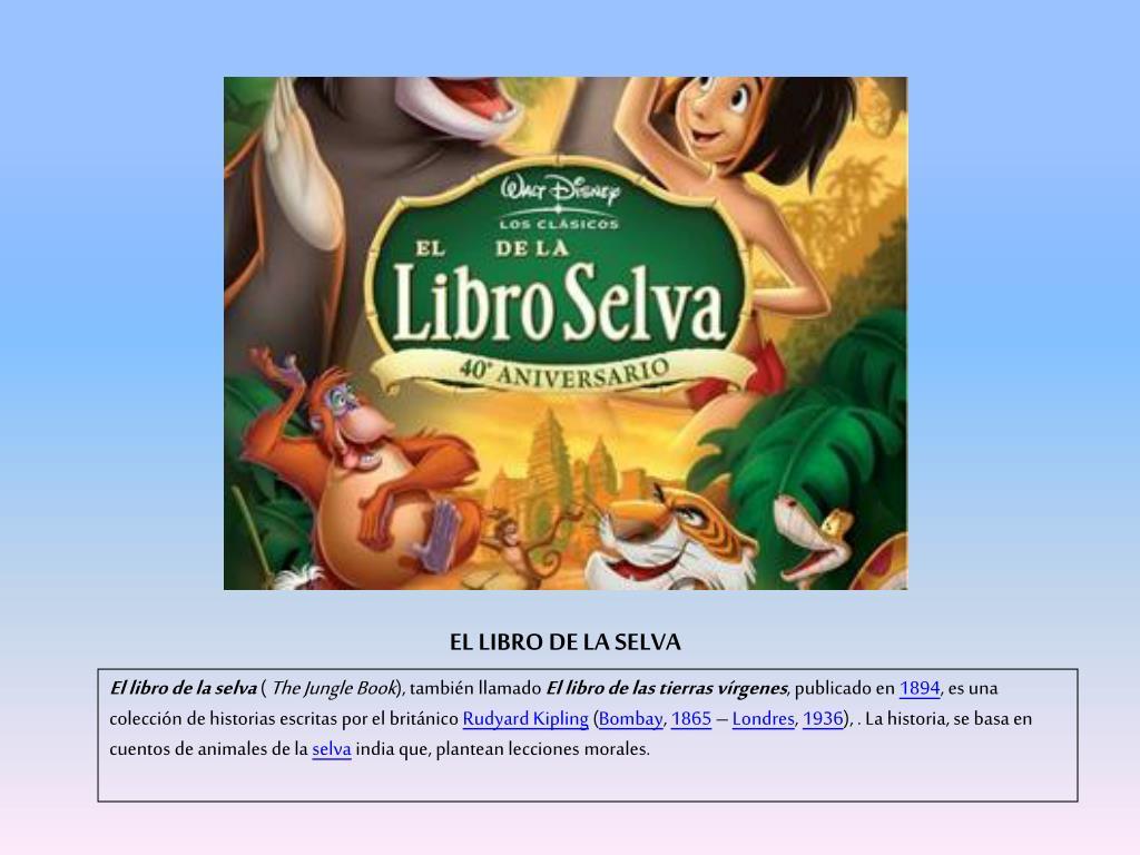 fósil Misterio impactante  PPT - EL LIBRO DE LA SELVA PowerPoint Presentation, free download -  ID:1439865