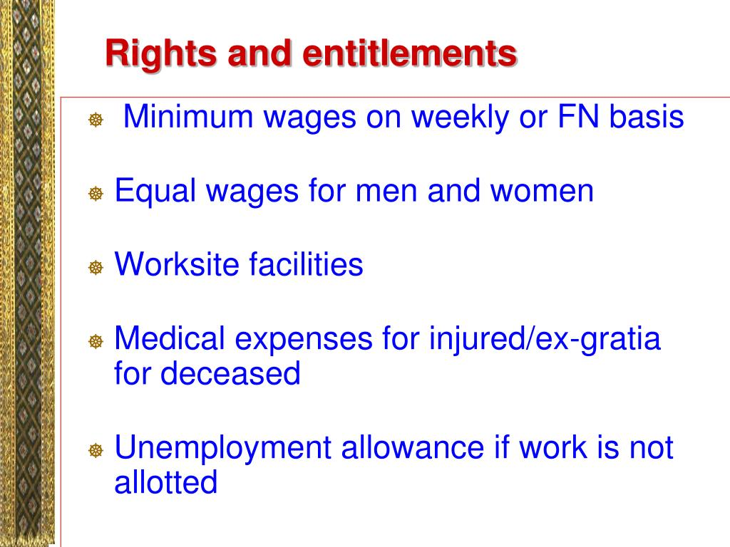 Rights and entitlements