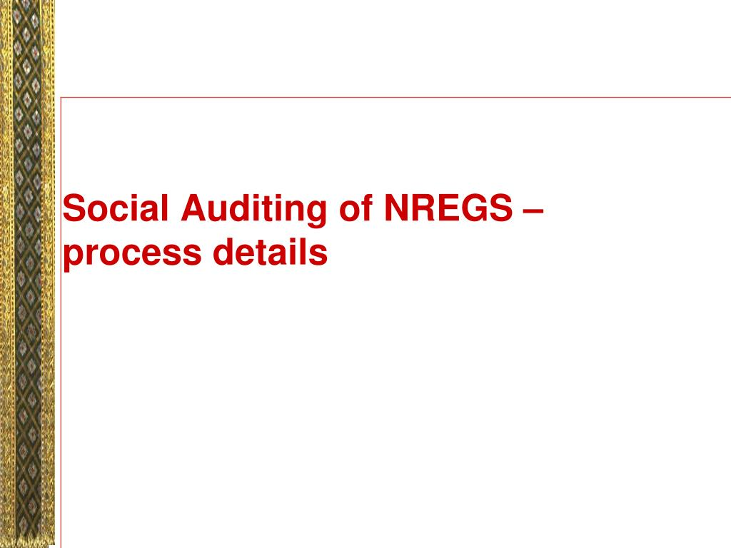 Social Auditing of NREGS – process details