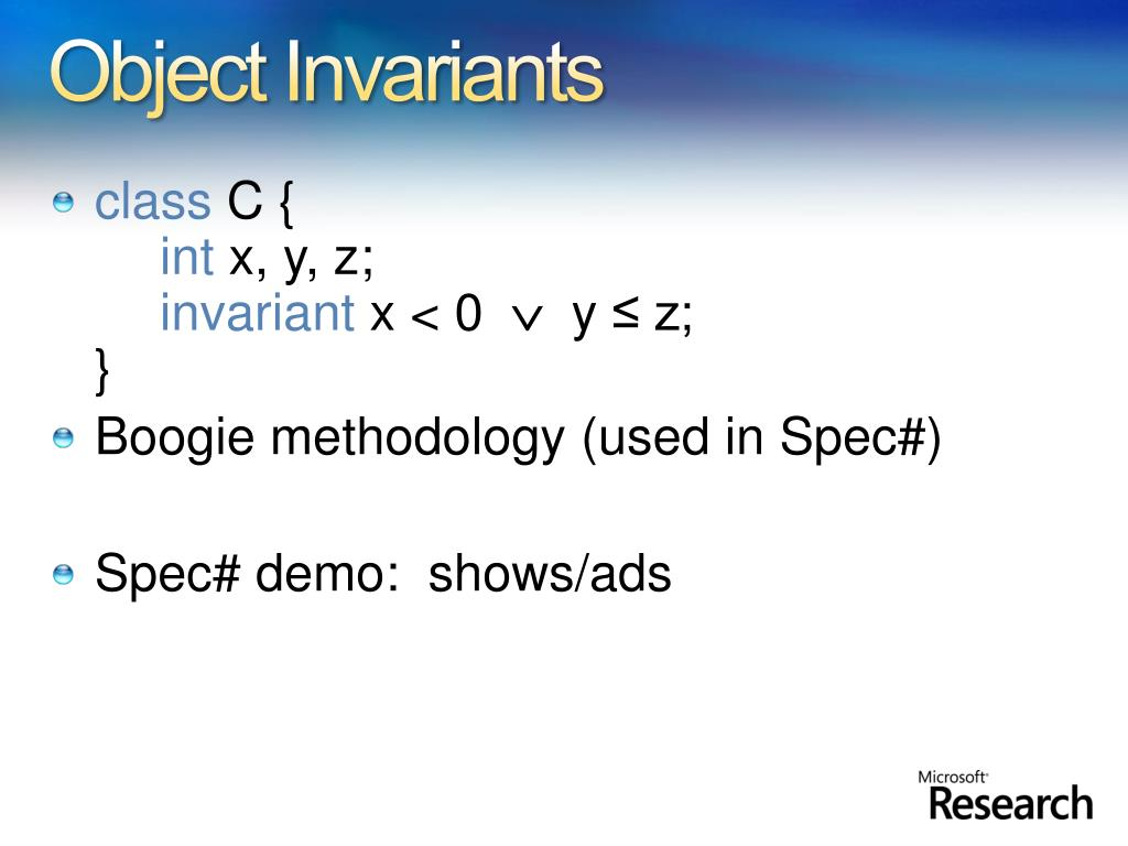 Object Invariants
